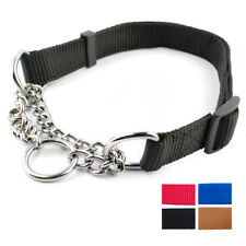Martingale Collars for Large Dogs Nylon Half Chain Choke Training Pitbull Boxer
