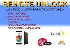 Remote unlock service lg stylo 2 ls775 boost mobile