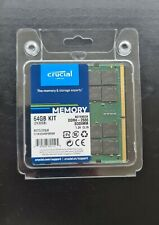 Crucial SO-DIMM DDR4 Notebook 2x32GB=64GB kit CT2K32G4SFD8266 !