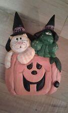 Rare Retired Eddie Walker Halloween Jol Frog Cat Kitten w/ Witch Hat-Perfect!