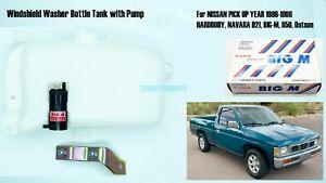Windshield Washer Tank Bottle Pump Fits Nissan Hardbody D21 Navara Datsun Big-M