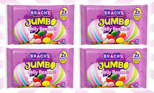 4 Brach's Jumbo 2X BIGGER Jelly Beans 13 OZ EXP 9/22