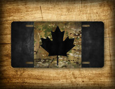 Camo Canada Flag License Plate Canadian Maple Leaf Auto Tag Camouflage and Black