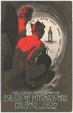 CARTOLINA d'Epoca - PUBBLICITARIA :  Milano ESPOSIZIONE  1906  LM - DEVILS
