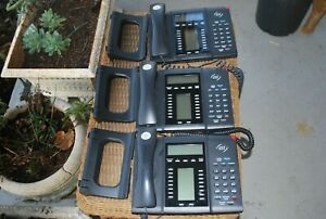 3 ESI 60 ABT BUSINESS/CONFERENCE PHONES W/ADJUSTABLE STANDS