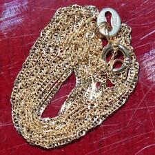"Alishaev 10k yellow gold necklace  16.0"" Singapore link chain vintage 0.62gr"