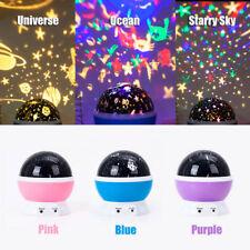 Rotating Star LED Projector Baby Night Light Nursery Children Room Lighting Lamp