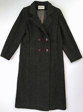 Vtg CHARLES KLEIN Womens 100% Wool Charcole Gray Trench Coat Jacket Sz 10 USA