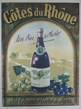 """""""CÔTES DU RHÔNE"""" Affiche originale entoilée litho années 50   52x67cm"""