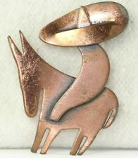 VINTAGE HAND WROUGHT REBAJES COPPER MEXICAN HOMBRE DONKEY PIN