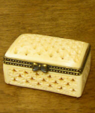 "Oriental Trinket Box #S0905G  Bone Box, 1"" NEW from our Retail Store Mint/Box"