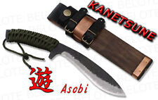 Kanetsune Seki ASOBI Damascus Knife + Sheath KB-212 NEW