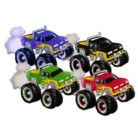 Monster Truck Personalized Christmas Ornament - Red Blue Black Green