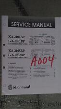 sherwood xa-2104bp 2105bp ga-1051 service manual repair car stereo amp amplifier