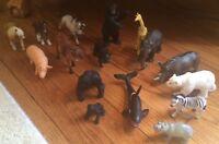 Schleich Salari Ltd Animals Lot Cow Horse Bear Hippo Giraffe Gorilla Zebra Rhino