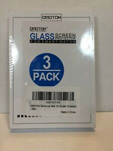 Omoton Glass Screen Protector For Samsung Gear S2 Smartwatch - 3 Pack