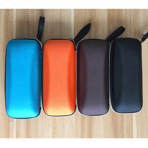 Portable Zipper Eye Glasses Sunglasses Square Clam Shell Hard Case Protector Box