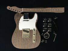 DKE500-TL Technical Zebra Wood Body & Neck,No-Soldering Electric Guitar DIY