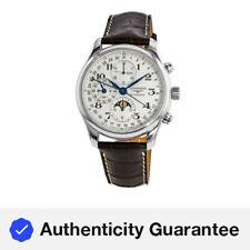Nueva Colección Longines Master Fase Lunar 42mm Plata Reloj para hombres L2.773.4.78.3