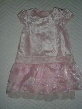 Pretty Party Dress ~ 12-18 months ~ Pale Pink Velveteen with Organza Skirt