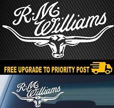 RMW RM WILLIAMS STICKER DECAL LONGHORN car UTE TRUCK 4X4 200mm