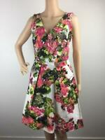 Veronika Maine Floral Career Party Sleeveless Dress / Size 8