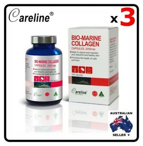 3 x Blue Summit Bio Marine Collagen 2000 Max 100 Capsule