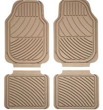 Sumex Universal Heavy Duty Durable 6mm Thick Rubber 4pce Car Floor Mats - Beige