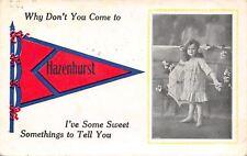 """""""I've Got Sweet Somethings to Tell You"""" in Hazenhurst Indiana~Lil Girl~1913 PC"""
