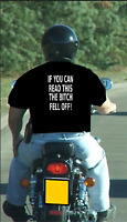 If You Can Read This The Bitch Fell Off! Mens Funny T Shirt Motorbike Accessory