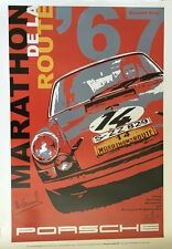 Porsche 911R Sportomatic 84 hours Nurburgring 1967 Victory Art poster Vic Elford