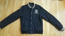 Abercrombie & Fitch Men Baseball Jacket Indian Falls Wool Coat M $195