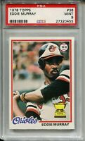 1978 Topps Baseball #36 Eddie Murray Rookie Card RC Graded PSA MINT 9 Orioles 78