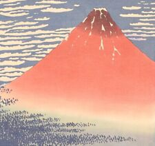 JAPANESE PAINTING HANGING SCROLL FROM JAPAN Mt. Fuji MOUNTAIN PRINT ART d552