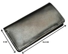 Men 100% Genuine Buffalo Leather Bifold Long Wallet Organizer Card Clutch Purse