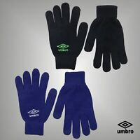 Mens Umbro Conductive Yarns For Use With Smartphones Soft Warm Knitted Gloves