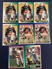 1990-1991 RAIDERS Huge 91 Card Lot GOLIC-MCDANIEL-HORTON-ELLISON-SMITH-MOSEBAR++