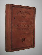 Falcone COMPENDIO DI ANATOMIA TOPOGRAFICA Hoepli 1896