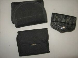 3 CARTRIDGE HOLDERs for .38 Spec/.357 Mag - Bucheimer Clark, Kolpin, Uncle Mikes