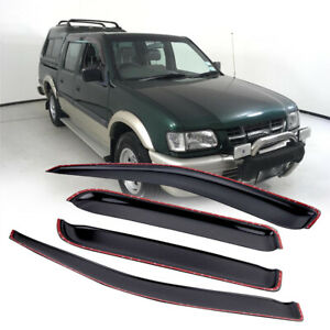 4pcs Black Weathershields Weather Shield For Holden Rodeo 2003-2008Aftermarket