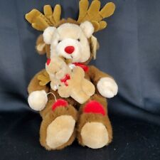 """Vtg Plush Creations Reindeer Bear 16"""" inches Costume Stuffed Toy 1994 Christmas"""