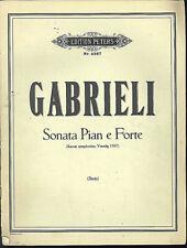 Gabrieli ~ Sonata Pian e Forte - ( Stein ) - Partitur