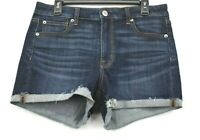 American Eagle Outfitters Womens Blue Folded Cuff Super Stretch Denim Shorts 12