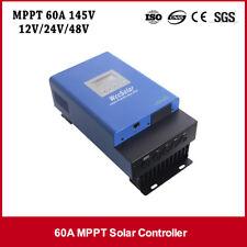 Controlador de carga solar MPPT 60A 12V24V48v Solar Panel Regulador con Pantalla