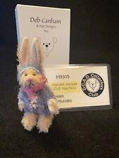 Deb Canham Miniature Jointed Mohair Teddy Bear in Purple Bunny Costume Fru Fru