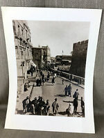 1950 Vintage Print Jerusalem Old City Black & White Israel Jewish Holy Land