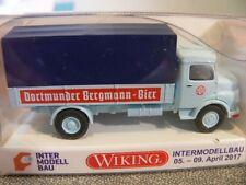 1/87 Wiking MB Kurzhauber Pr/Pl Dortmunder Bergmann-Bier 0436 56 Sondermodell