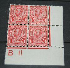 Great Britain 154 Control Block Vf Og Lh at top Nh at Bottom