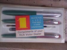 Vintage WEAREVER Pen Set 3pcs FOUNTAIN BALLPOINT Compliments RCA Victor Dealer