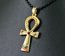 Alloy Egyptian Ankh Cross Pendant Necklace w/Free Jewelry Box and Shipping